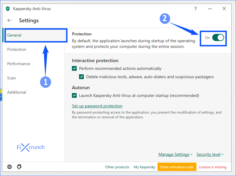 Kaspersky Disable