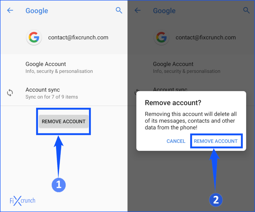 Google Account Remove