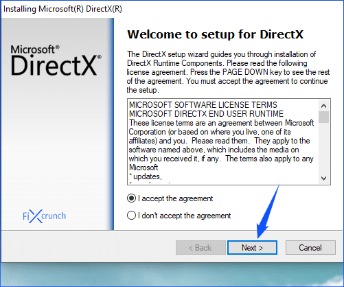 DirectX Installation
