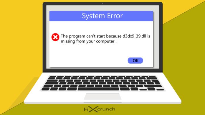 Fix d3dx9_39.dll is missing error