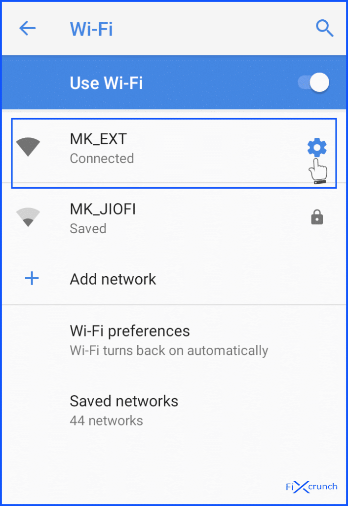 wifi secctings icon