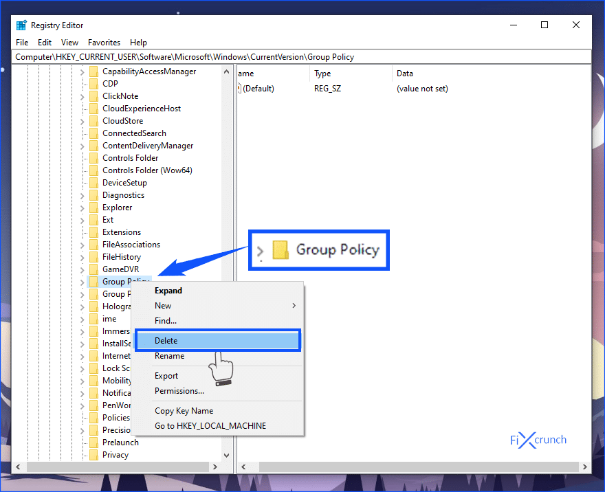 Delete Group Policy