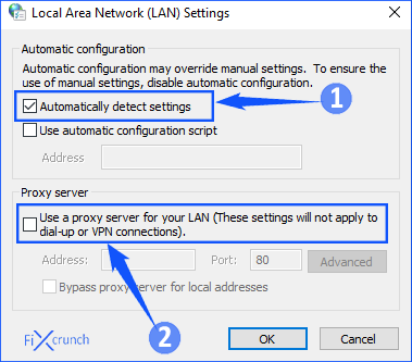 Local Area Network (LAN) Settings
