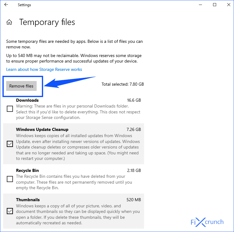 Temporary Files Removing