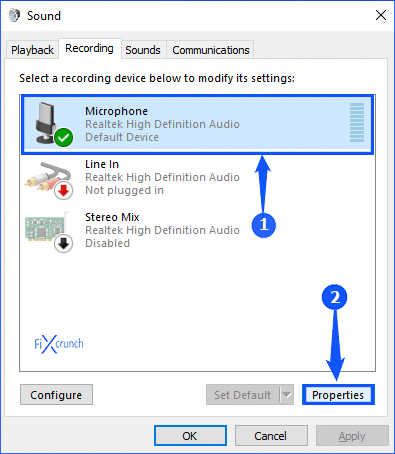 Microphone Properties