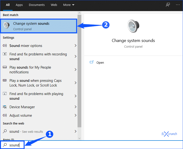 Windows Change system sounds