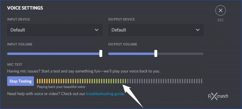 microphone testing on discord