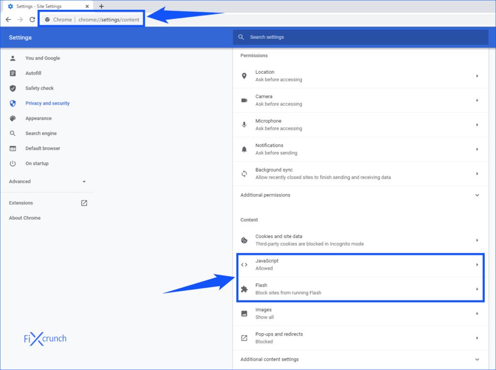 Chrome javascript