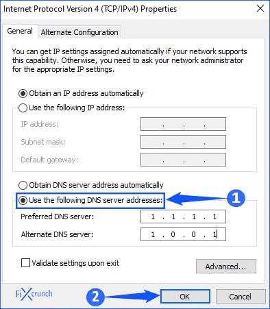 Windows Google DNS Setup