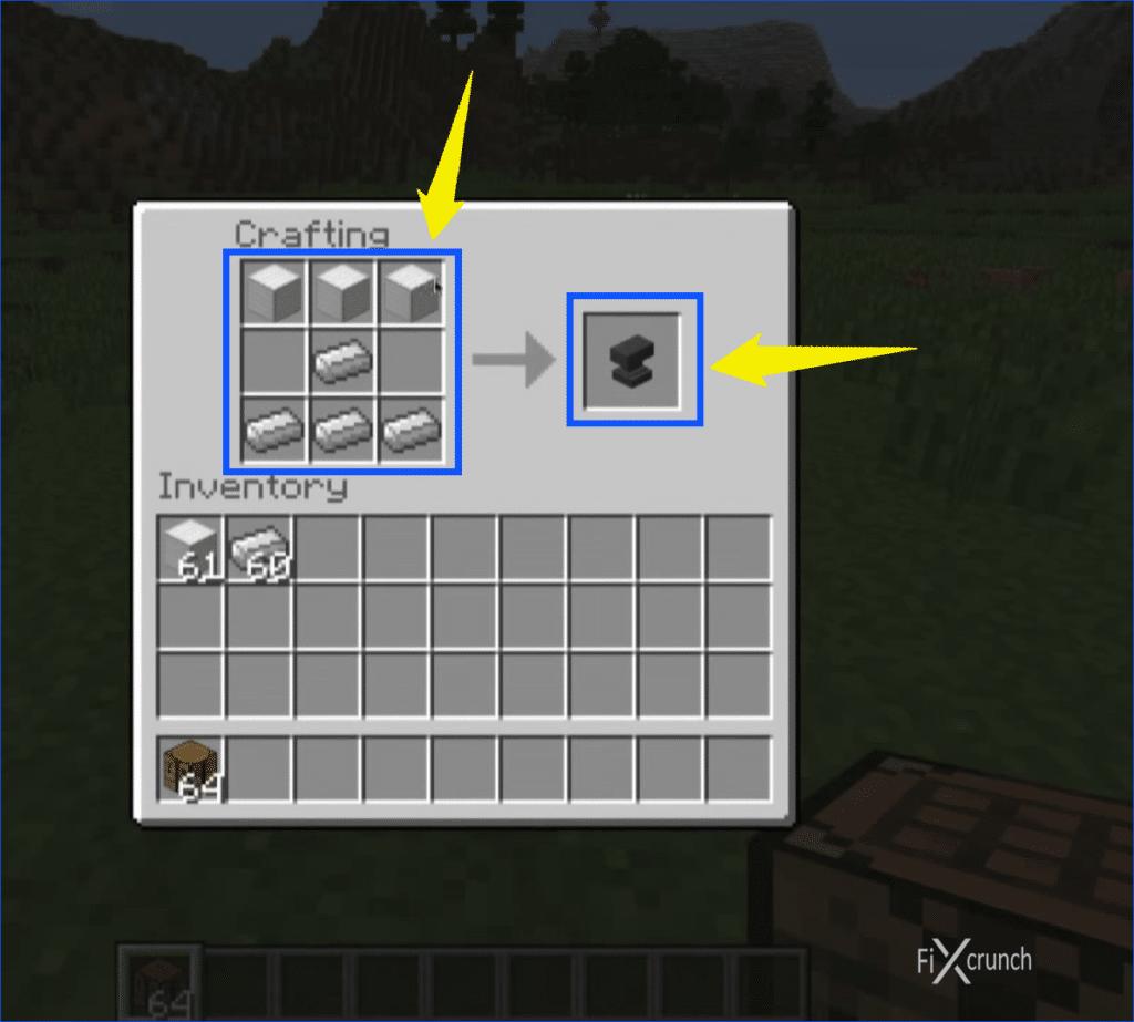 Minecraft Anvil Making