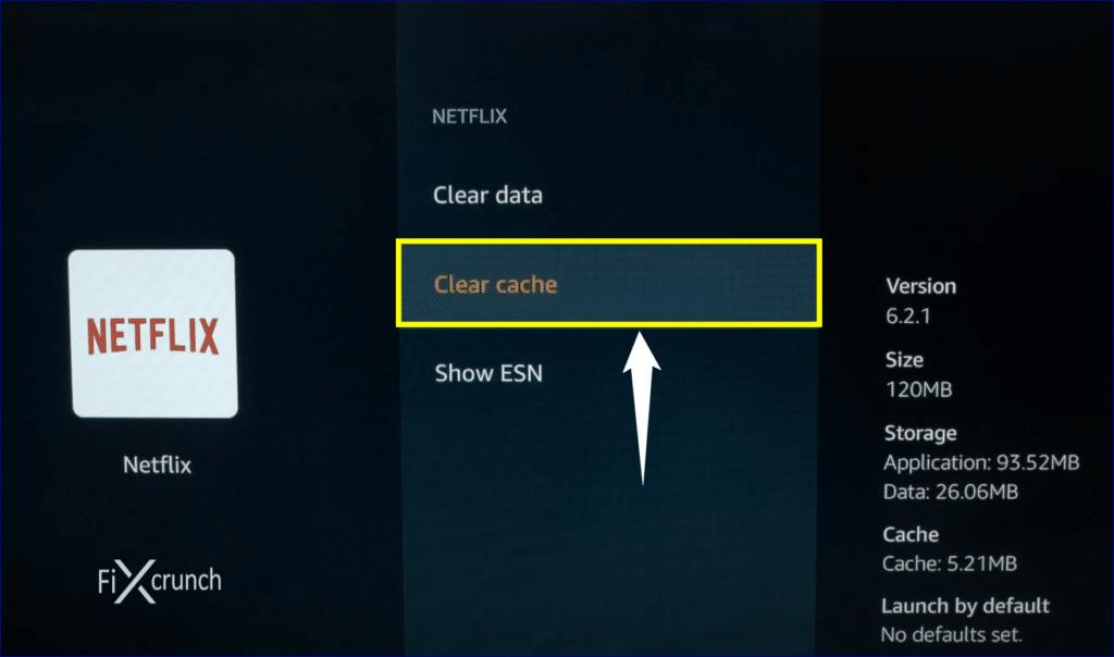 Netflix Clear Cache