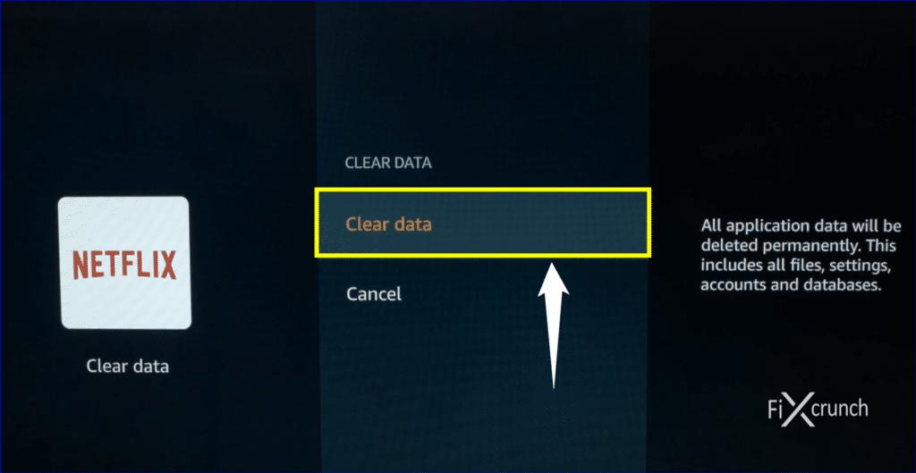 Netflix Clear Data
