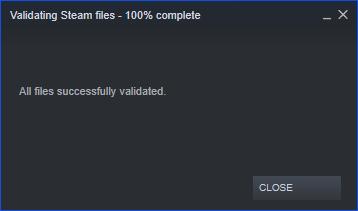 Validating Steam Files