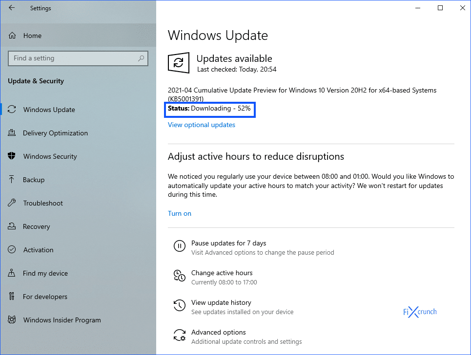 Windows Update Installing