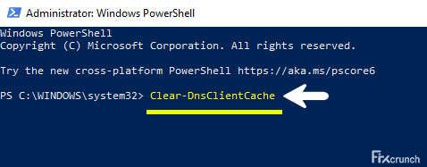 Clear-DnsClientCache